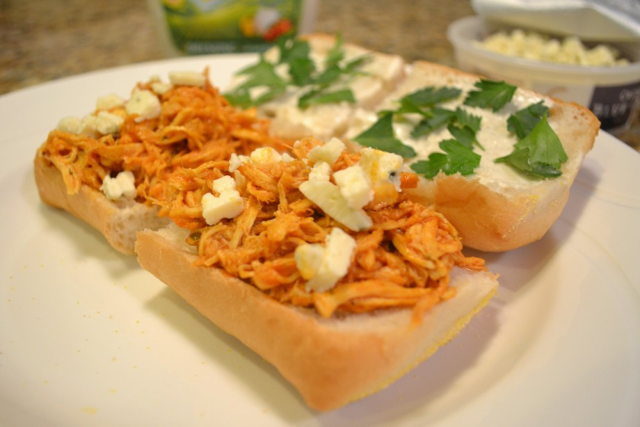 Recipe Twofer: Buffalo Chicken Sandwiches + Buffalo Chicken Pizza