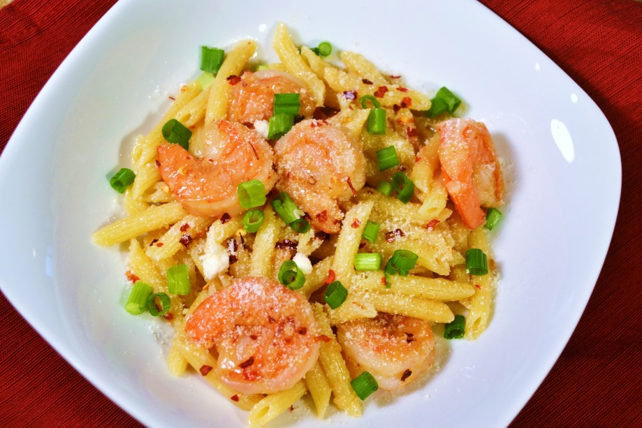 Spicy Parmesan Shrimp Skillet