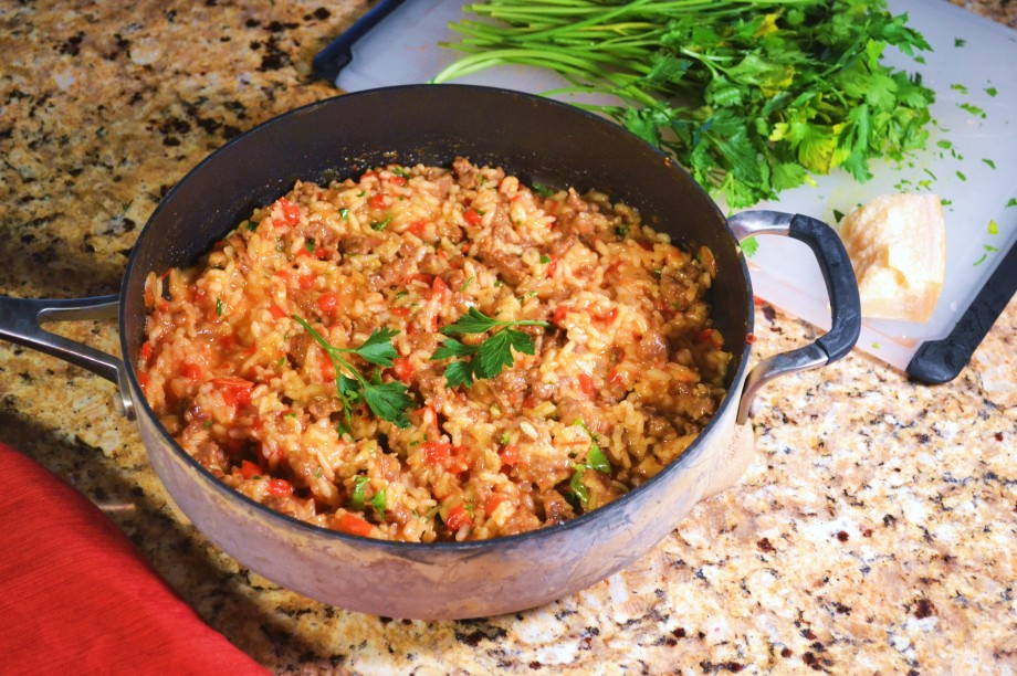 Italian Sausage and Red Pepper Risotto