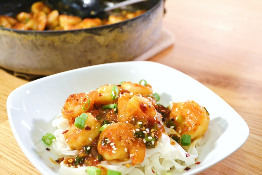 Stir Fried Shrimp with Spicy OrangeSauce