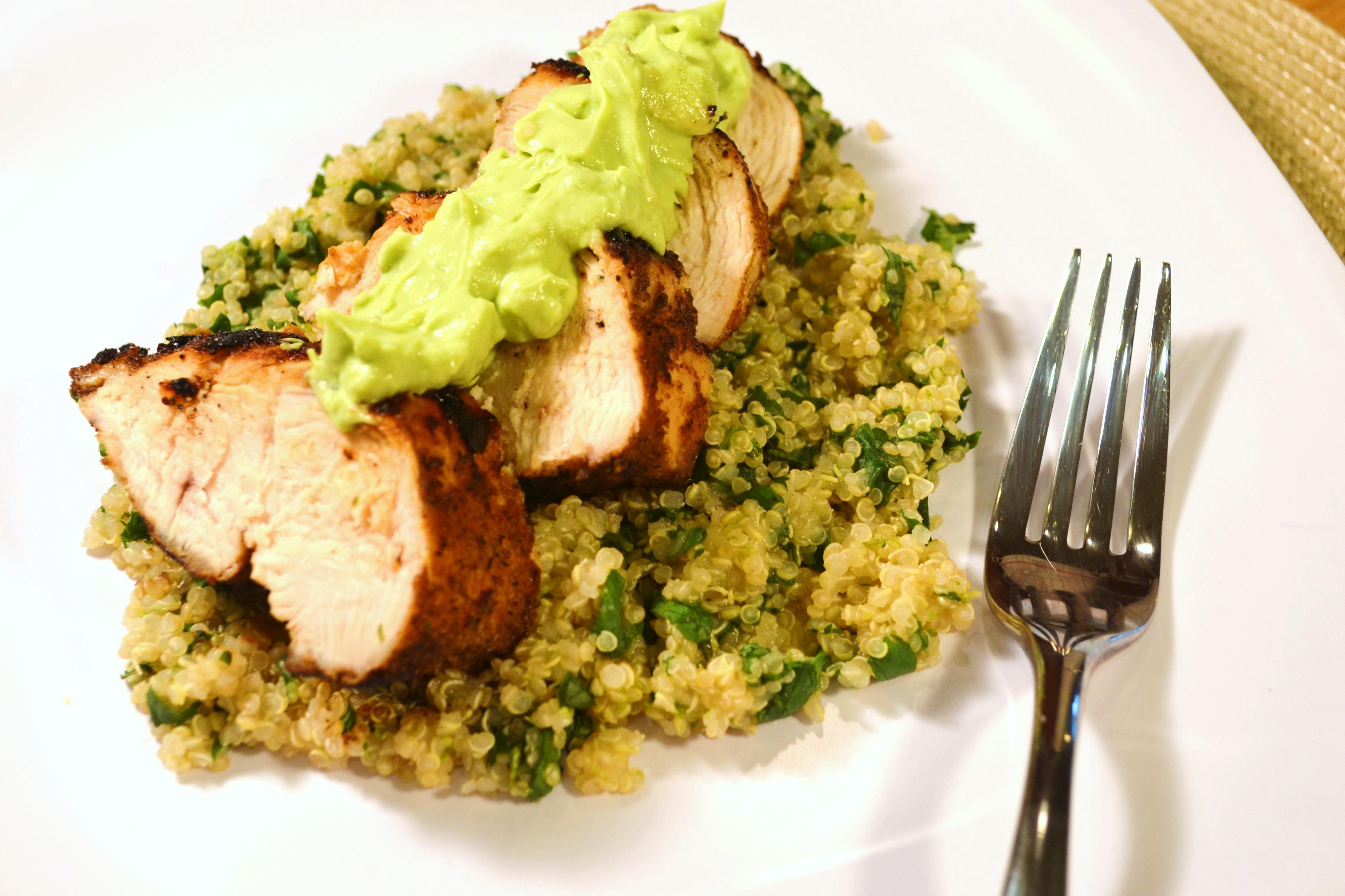 Blackened Chicken with Cilantro Lime Quinoa | windykitchen