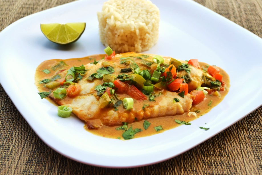 Tilapia with Thai Coconut Curry