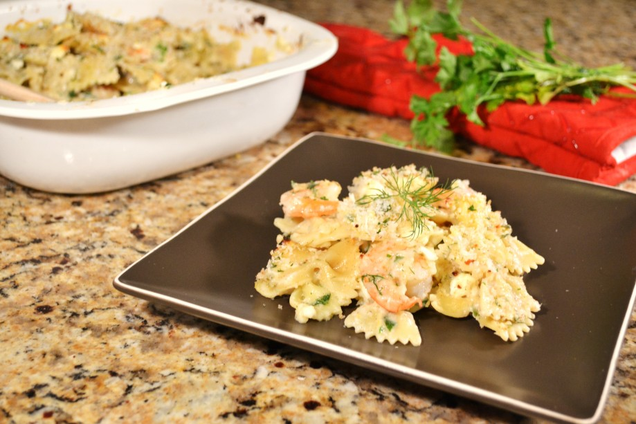 Shrimp, Feta, and Herb Mac and Cheese