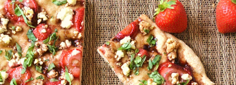 TREAT YO SELF! Balsamic Strawberry & Goat Cheese Flatbread