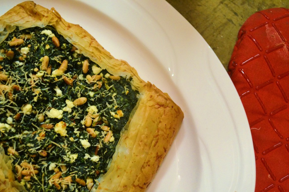 Meatless Monday: Spinach, Feta, and Pine NutTart
