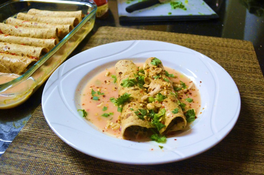 Thai Chicken Enchiladas