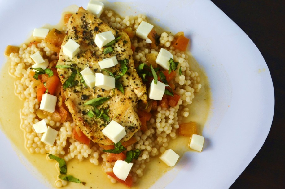 Balsamic Chicken with Tomato Basil Couscous