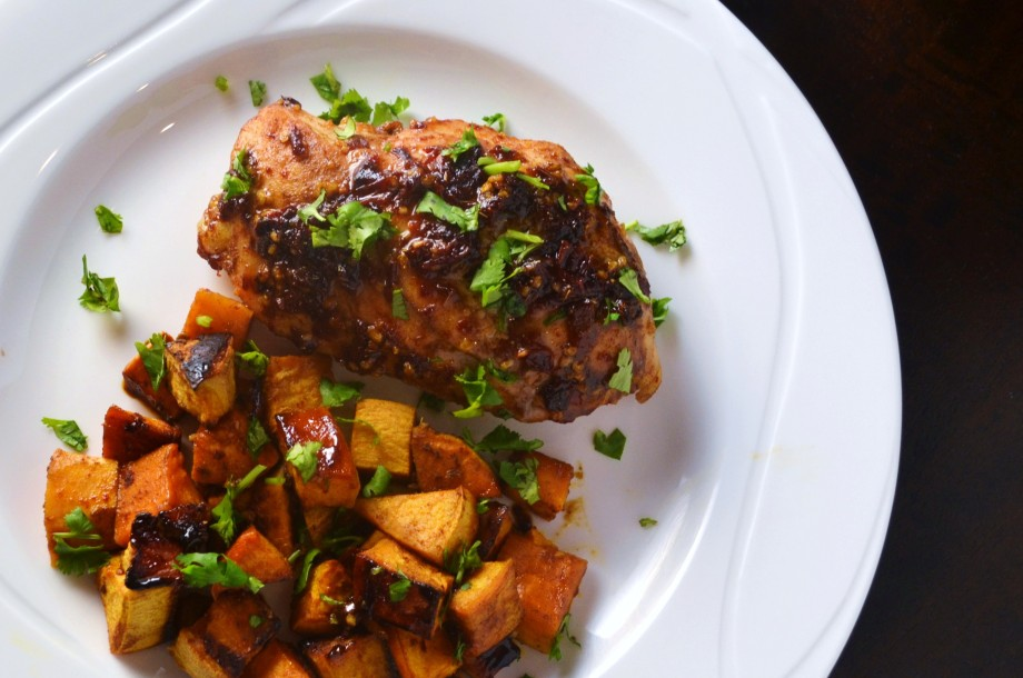 Chipotle Honey Chicken with Sweet Potatoes