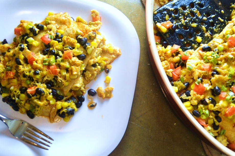 Meatless Monday: Tempeh Enchilada Casserole