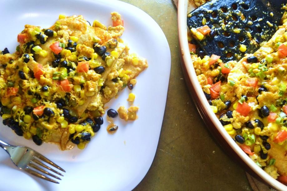 Meatless Monday: Tempeh EnchiladaCasserole