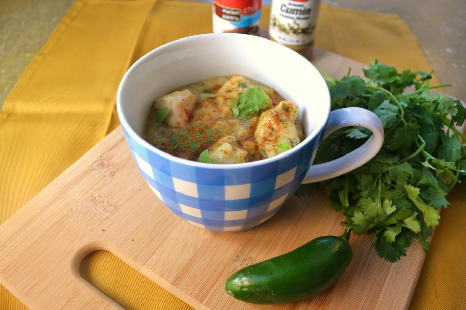 Chili Chicken Soup with CilantroDumplings