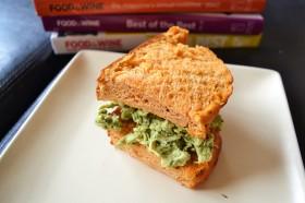 207 pesto chicken salad sandwich with tomato basil bread