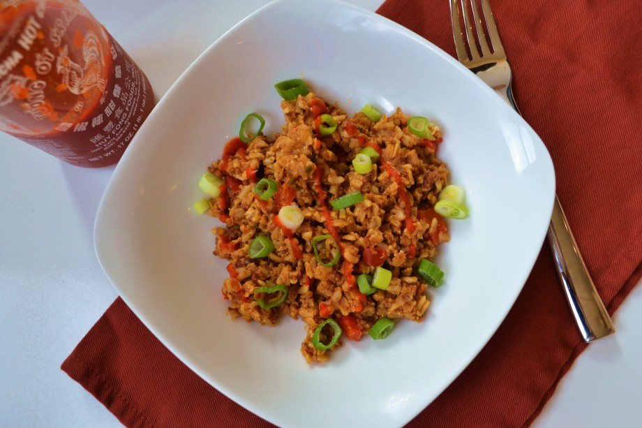 Chorizo Sriracha Fried Rice