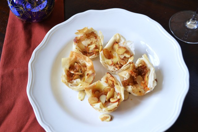 245 mini baked brie cups