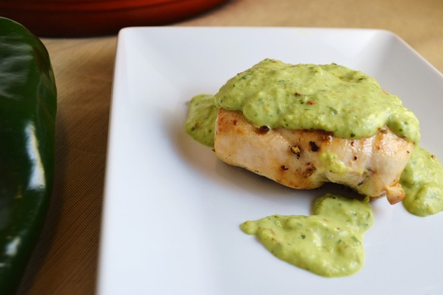 chicken, avocado, cilantro, verde