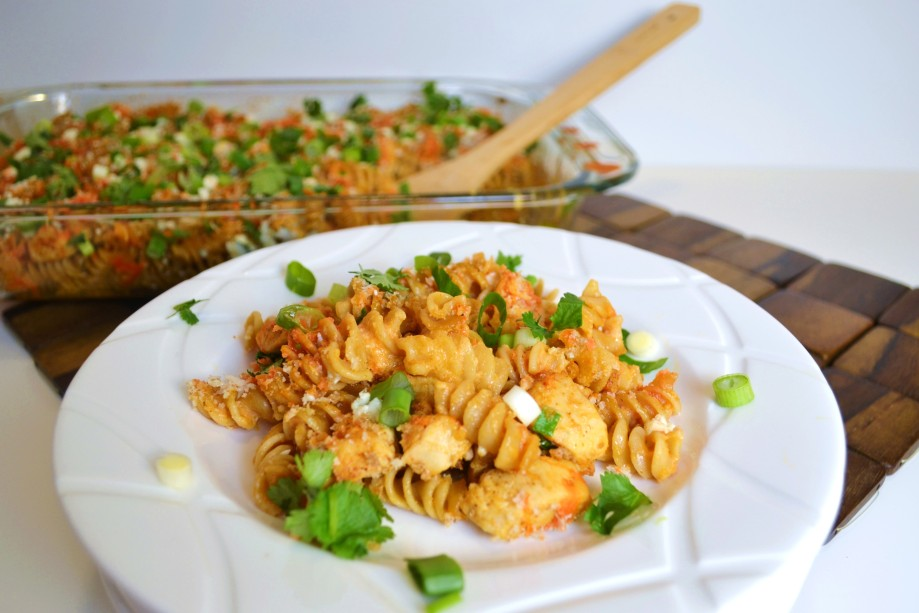 Baked Buffalo Chicken Pasta (and keeping up with New Years resolutions…)