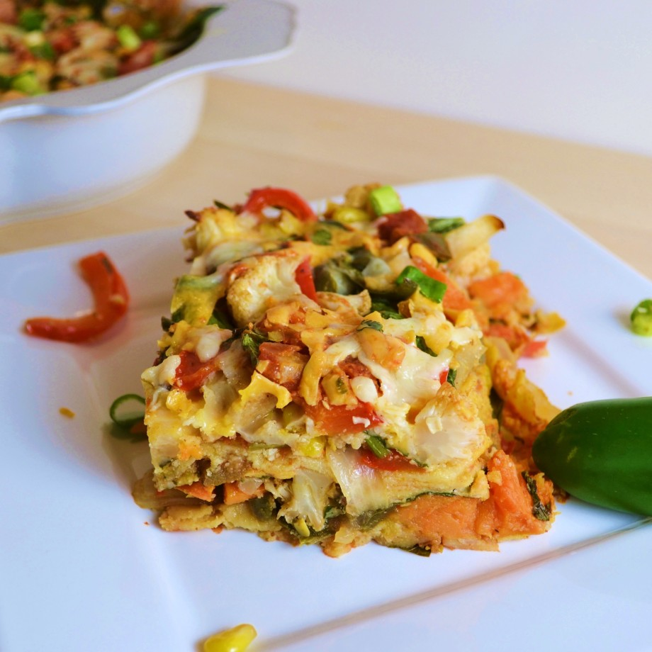Meatless Monday: Stacked Veggie Enchilada Bake