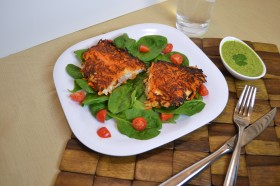 tilapia, fish, sweet potatoes, cilantro