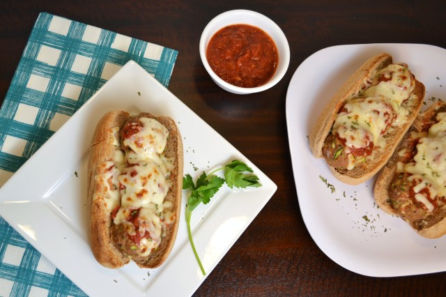 Turkey Zucchini Meatball Subs 2 | windykitchen