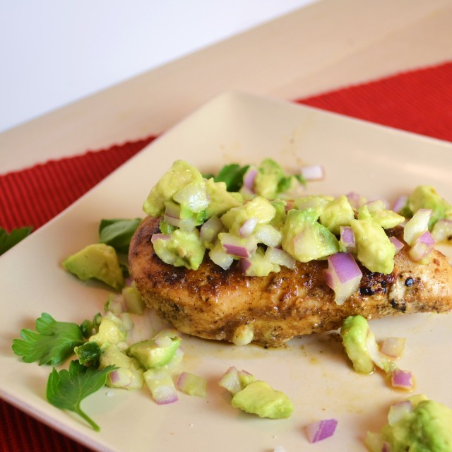 Cayenne Rubbed Chicken with Avocado Salsa | windykitchen