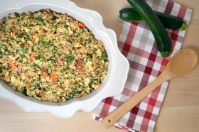 Parmesan Veggie Brown Rice Gratin 1 | windykitchen