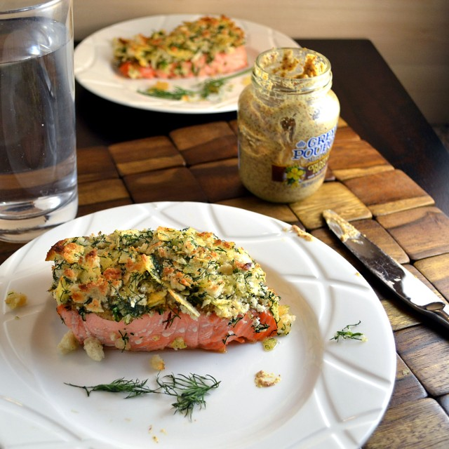 Broiled Salmon with Mustard-Dill Crust 1 | windykitchen
