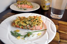 Broiled Salmon with Mustard-Dill Crust 2 | windykitchen