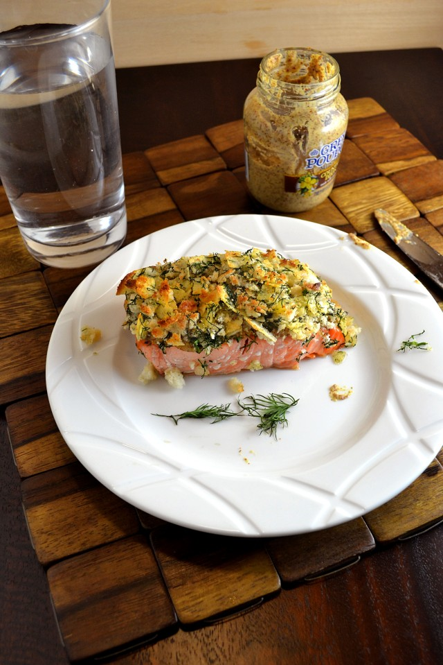 Broiled Salmon with Mustard-Dill Crust 3 | windykitchen