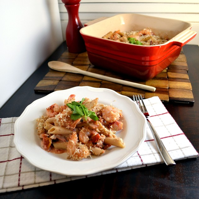 Lighter Garlic Shrimp Penne 2 | windykitchen