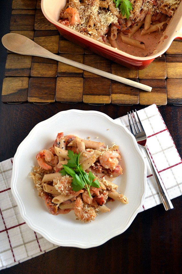 Lighter Garlic Shrimp Penne 3 | windykitchen