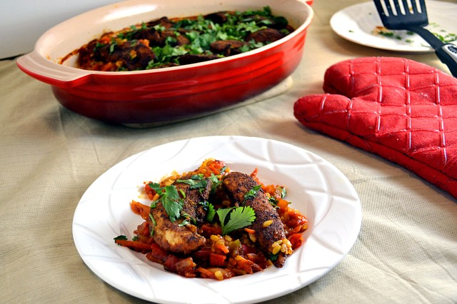 Tandoori Chicken and Rice Bake | windykitchen