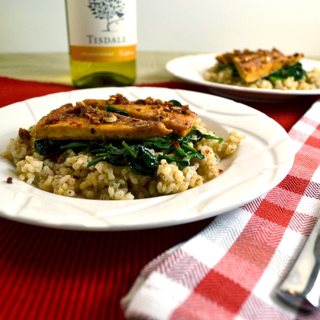 Chili Lime Tofu w Rice and Spinach | windykitchen