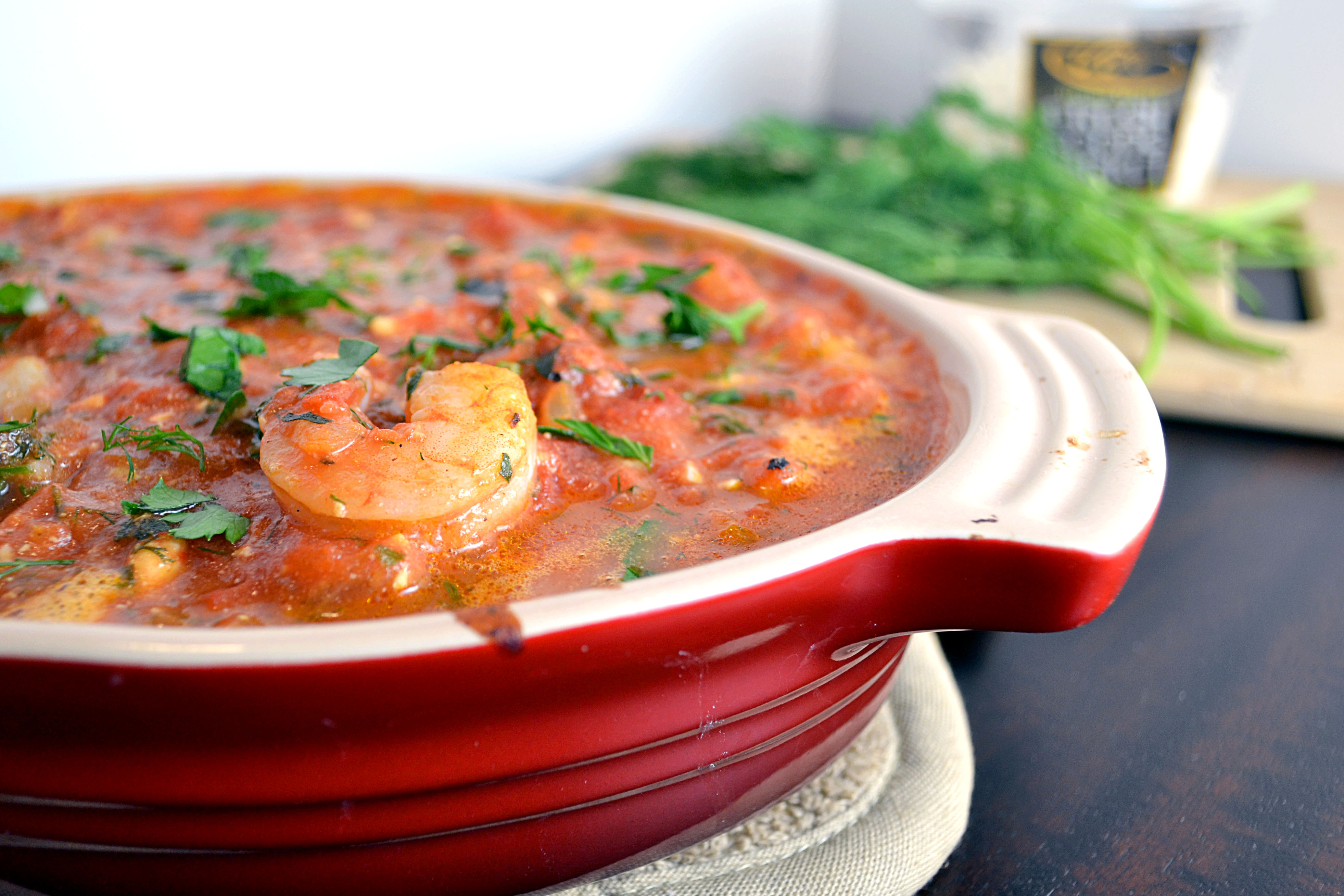Baked Shrimp In Tomato Feta Sauce Recipe — Dishmaps