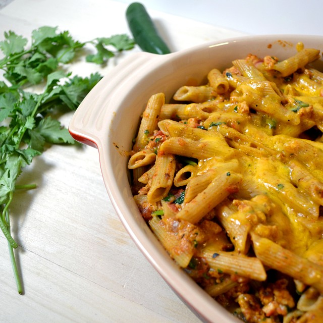 Southwestern Chili Con Queso Pasta Bake | windykitchen