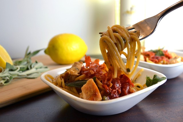 Chicken Saltimboca Pasta | windykitchen