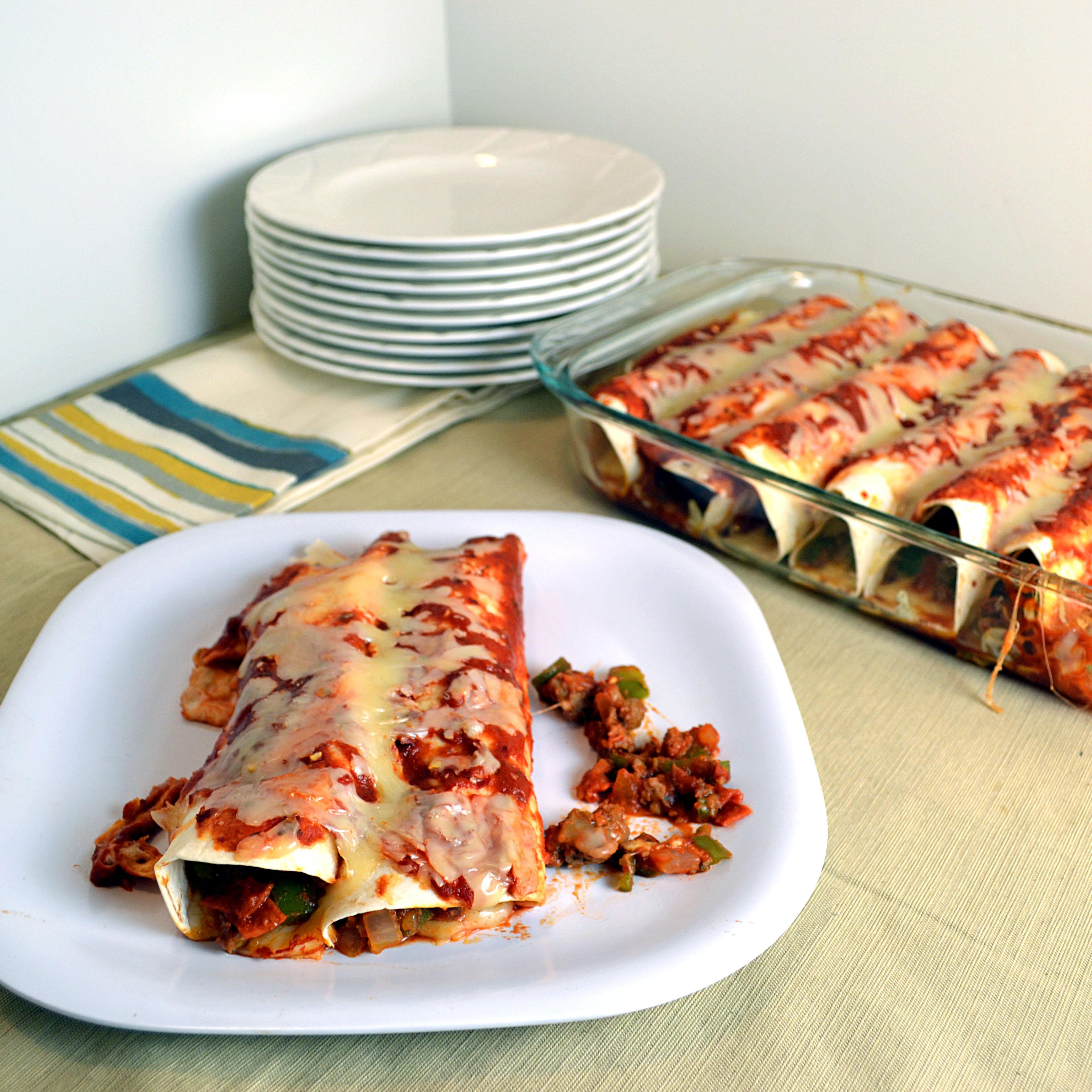 Deluxe Pepperoni Pizza Enchiladas | windykitchen