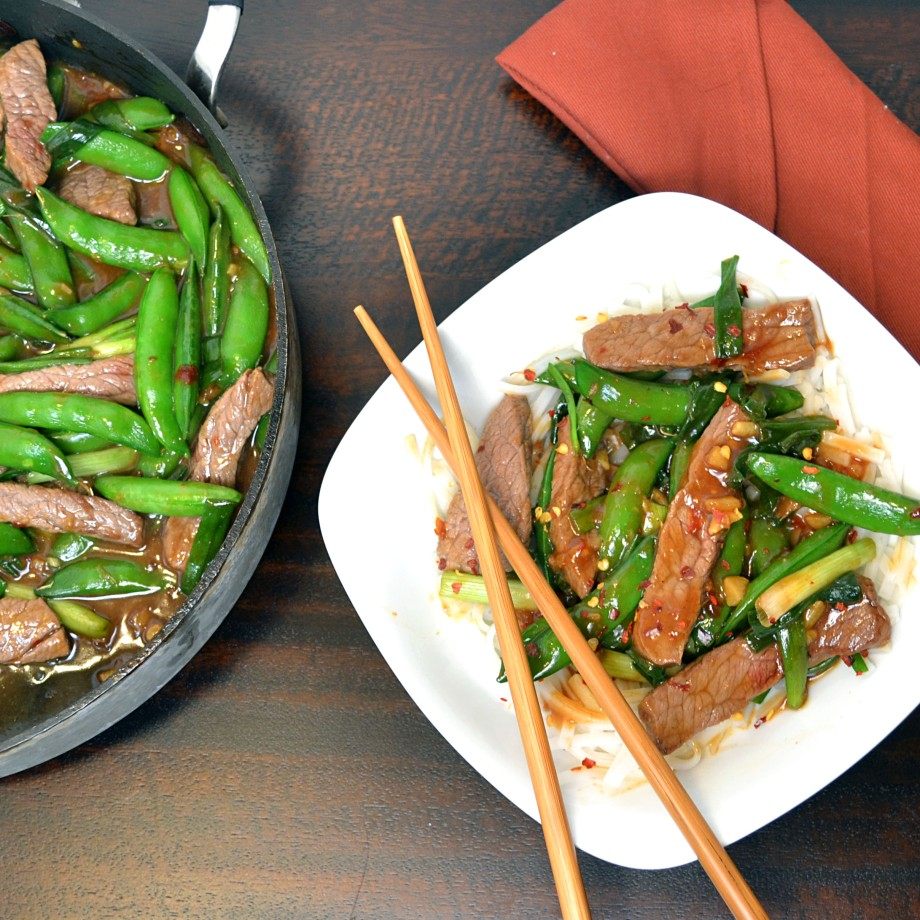 Lighter Mongolian Beef