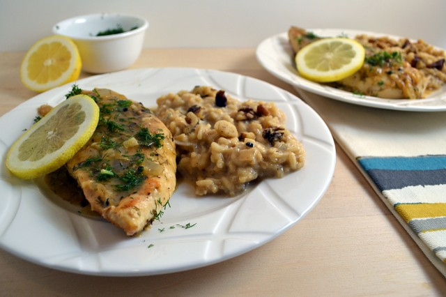 Lemon Dill Chicken with Gorgonzola Risotto | windykitchen