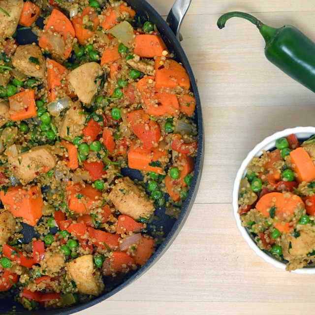 Chicken Quinoa Sweet Potato Stir Fry | windykitchen