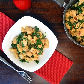 Pasta Shells with  Mascarpone, Sundried Tomatoes and Spinach | windykitchen