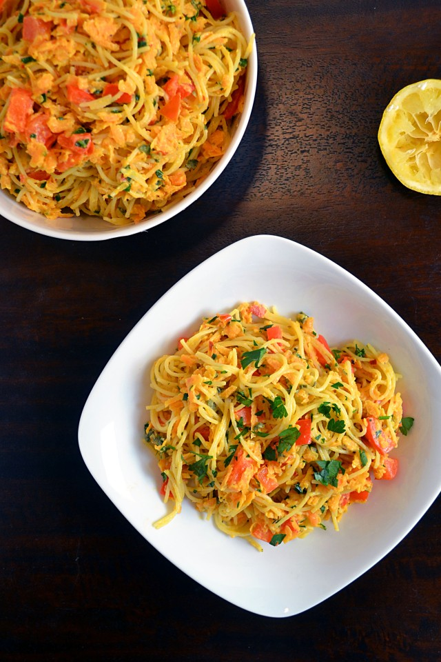 Sweet Potato Red Pepper Pasta | windykitchen