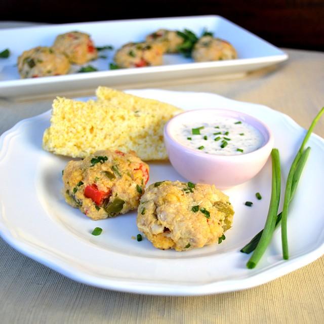 Cornbread Mini Crab Cakes | windykitchen
