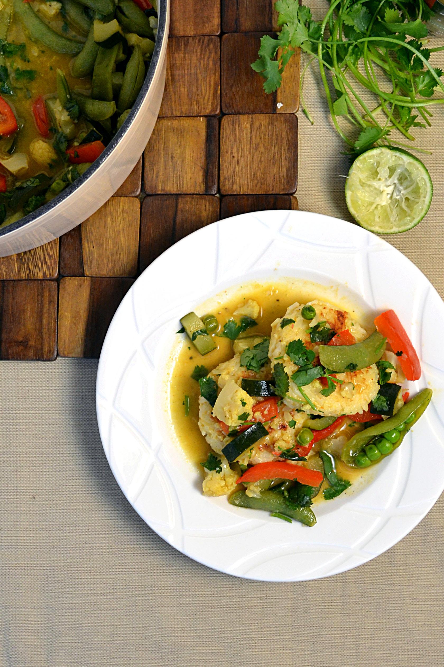 Thai Veggie Green Curry W Rice Cakes Windykitchen