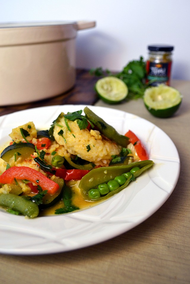 Thai Veggie Green Curry w Rice Cakes | windykitchen