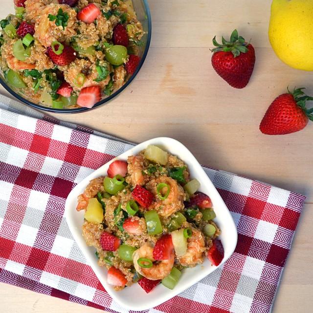 Jerk Shrimp with Carribbean Quinoa | windykitchen