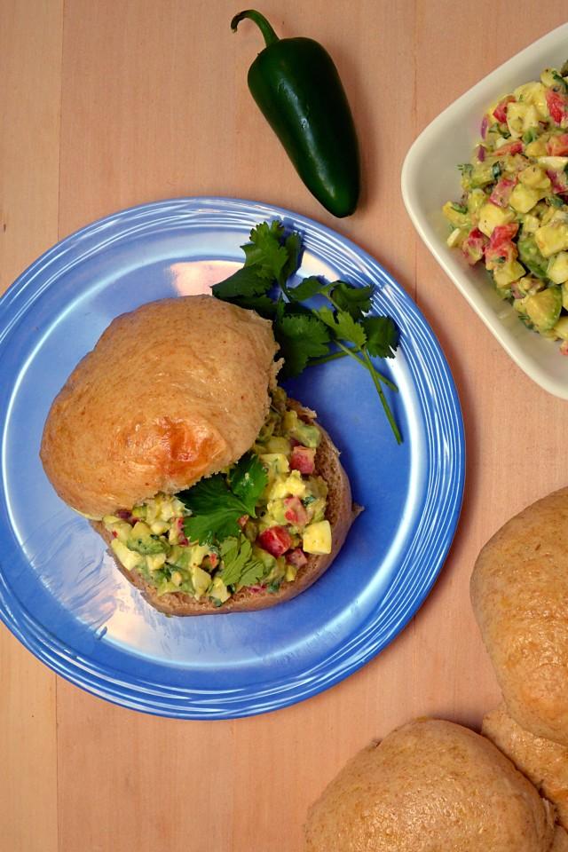 Jalapeno Caper Avocado Egg Salad   windykitchen