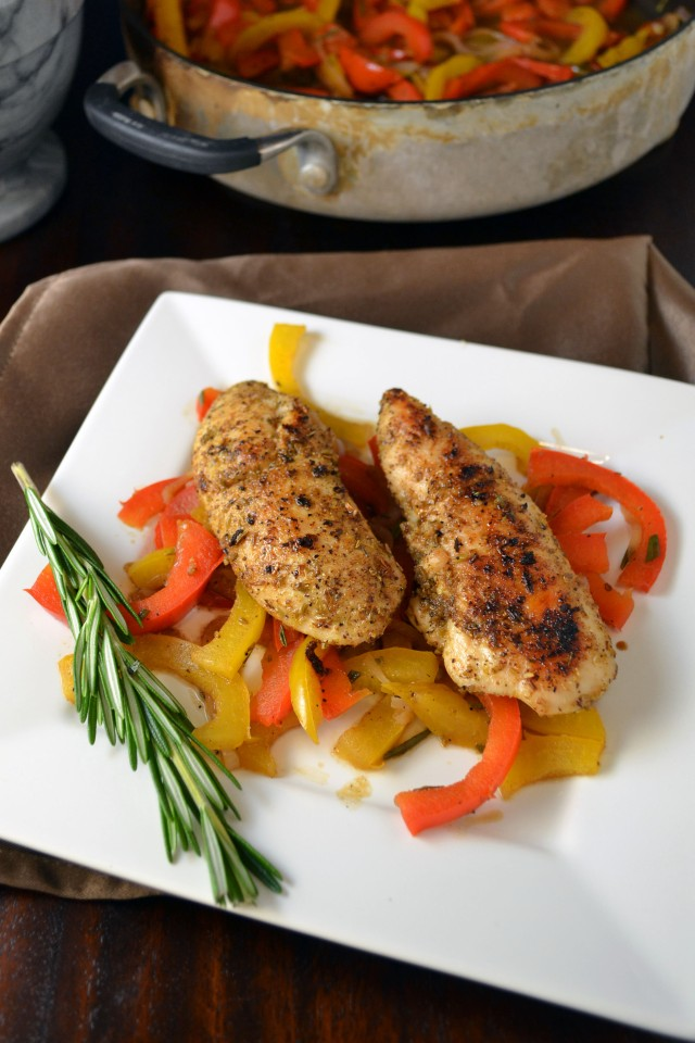 Chicken with Balsamic Peppers | winykitchen