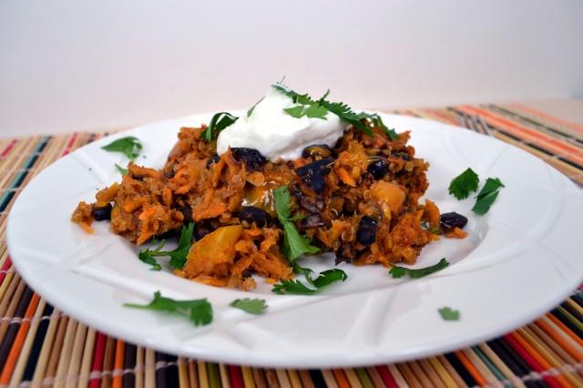 Sweet Potato Black Bean Quinoa Bake | windykitchen