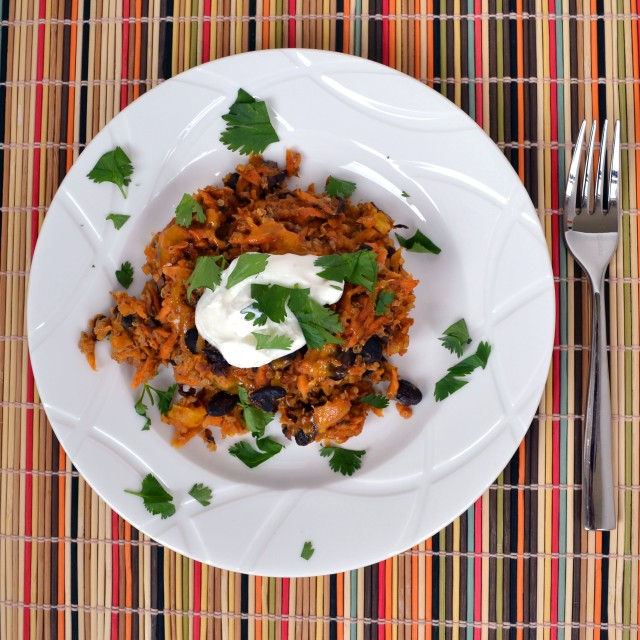 Sweet Potato Black Bean Quinoa Bake | windykitchen