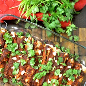 Black Bean Zucchini Goat Cheese Enchiladas | windykitchen